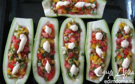 Рецепт Кабачки-лодочки вегетарианские