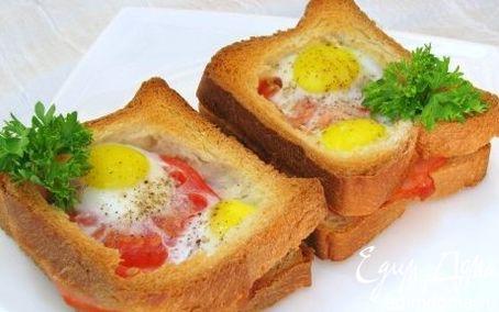 Рецепт Горячие бутерброды с окороком