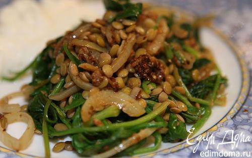 Рецепт Чечевица со шпинатом, тмином и кориандром
