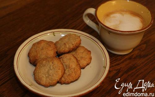 Рецепт Овсяное печенье с кешью и белым шоколадом