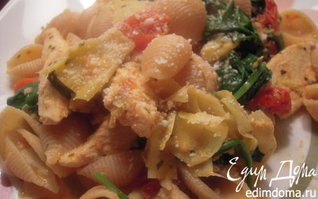 Рецепт Куриное рагу с ракушками