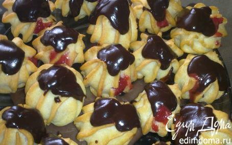 Рецепт Профитроли с клубникой и шоколадом