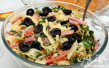 Рецепт Итальянский салат с сыром и макаронами