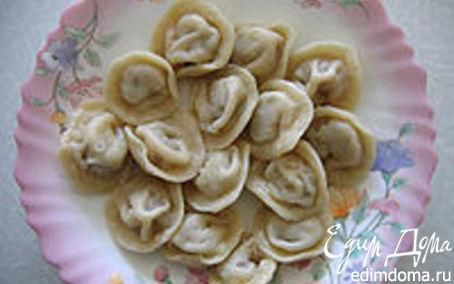 Рецепт Пельмени с печенью и грибами