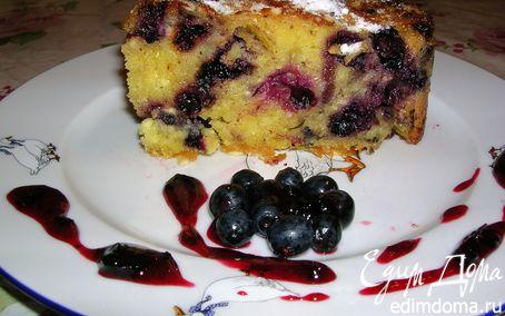 Рецепт Черничный пирог с творогом