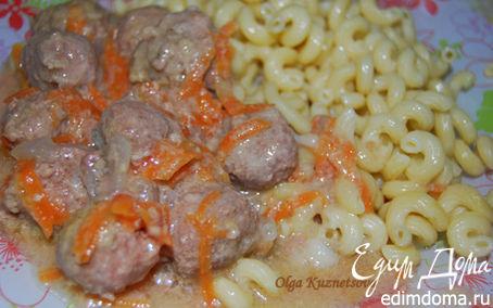 Рецепт Тефтели в молочном соусе с макаронами