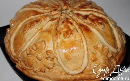 Рецепт Курник: пирог со сложной начинкой