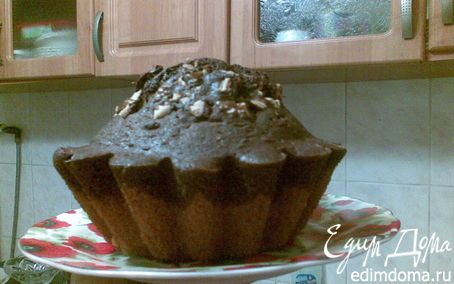 Рецепт Ванильно-шоколадный кекс с орехами