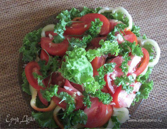 """Краски лета"" овощной салат"