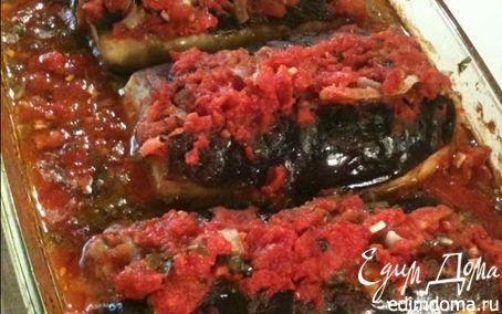 Рецепт Имам баидлы (баклажаны с помидорами)