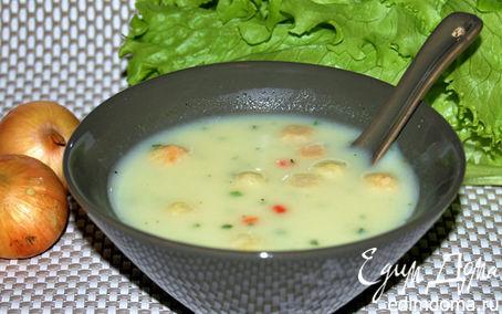 Рецепт Крем-суп сырный с гренками