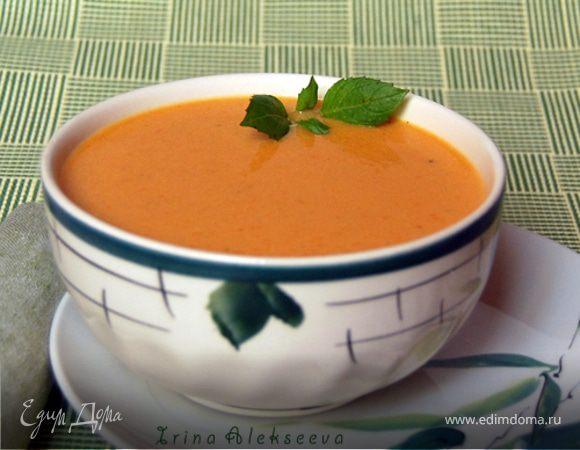 Сливочный суп-пюре с семгой