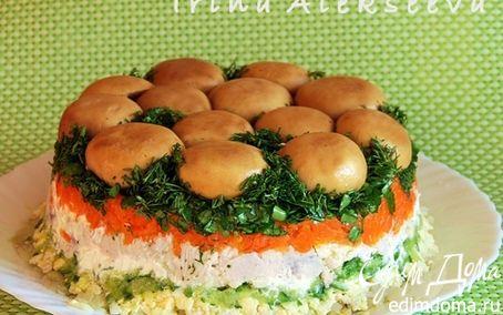 "Рецепт ""Лесная поляна"" салат"