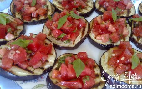 Рецепт Баклажаны-гриль с помидорами и мятой