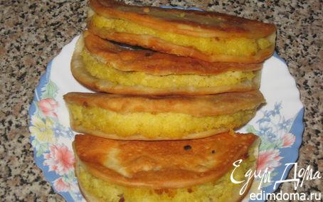 Рецепт Кыстыбый(чебурек) с пшённой кашей