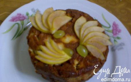 Рецепт Запеканка с виноградом и печеньем