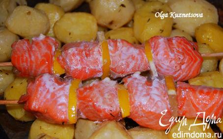 Рецепт Шашлык из форели с печеным картофелем