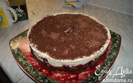 Рецепт Нежный вишневый торт