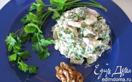 Рецепт Грушевый салат с курицей