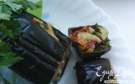 Рецепт Солёные баклажаны с овощами