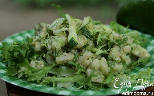 Рецепт Салат из фасоли с креветками