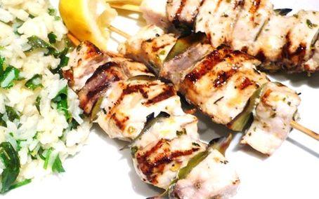 Рецепт Сувлаки из рыбы