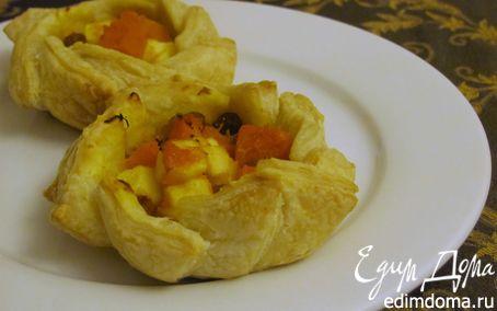 Рецепт Пирожное с тыквой, яблоком и изюмом
