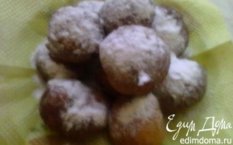Рецепт Пончики творожные с изюмом