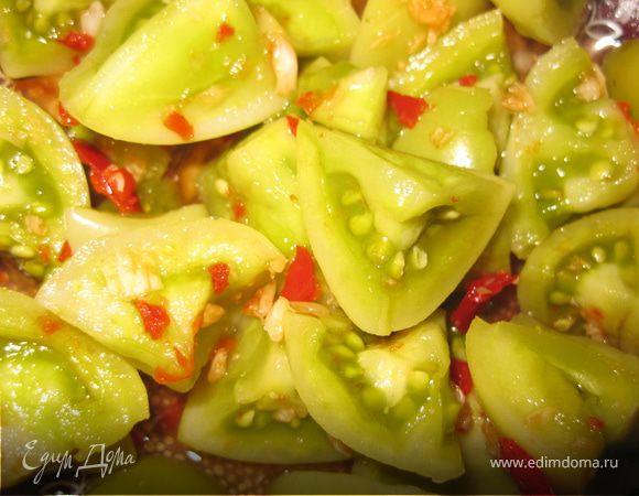 """Маринованные зеленые помидоры в кисло-сладком, остром маринаде """"Закусон"""""""