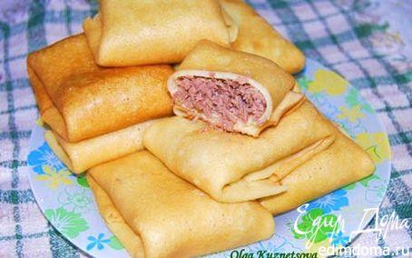 Рецепт Блинчики с мясом домашние