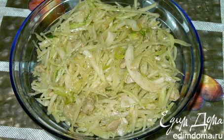 Рецепт Корейский салат из свежей капусты.