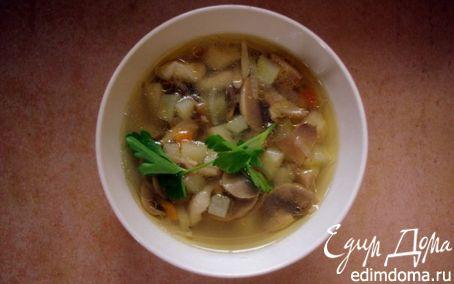 Рецепт Грибной суп с галушками