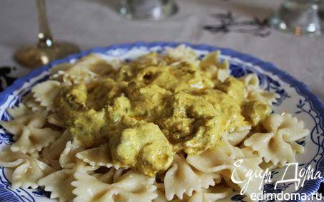 Рецепт «Бантики» в сливочном соусе