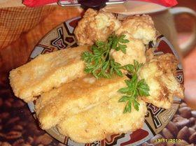 Рыбное филе в картофельных хлопьях