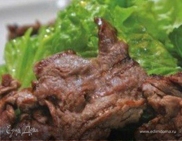 """Теплый салат с телятиной и овощами-гриль """"Ялта"""""""