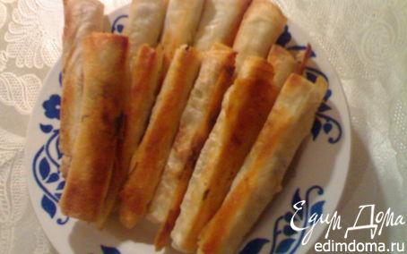 Рецепт Лаваш с сыром и зеленью.