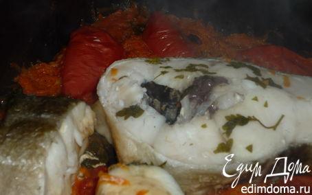 Рецепт Стейки трески под овощным маринадом