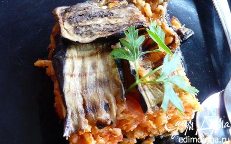 Рецепт Ленивый рис с баклажаном