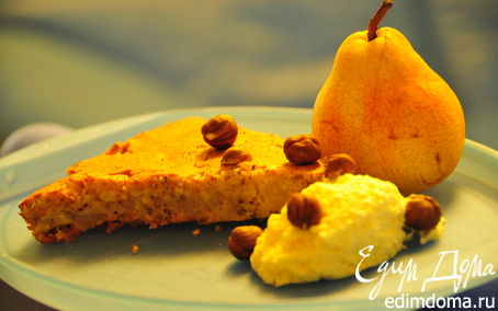 Рецепт Творожный десерт с грушами