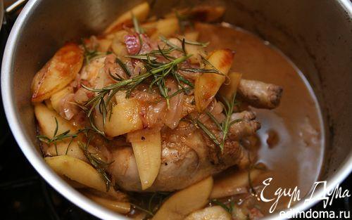 Рецепт Курица с яблоками и яблочным сидром