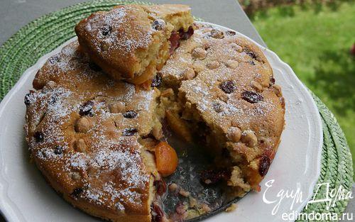 Рецепт Пирог с нектаринами и клюквой