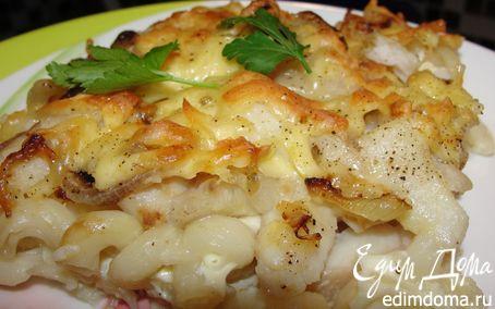 Рецепт Рыба, запеченная с макаронами