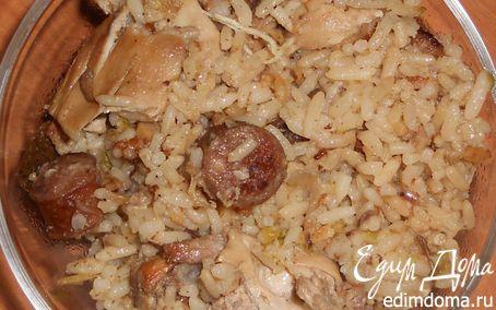 Рецепт Джамбалайя с курицей и охотничьими колбасками