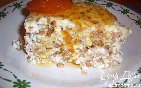 Рецепт Творожно-гречневая запеканка на завтрак