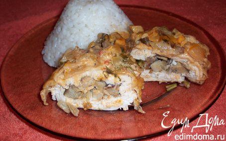 Рецепт Куриный конвертик с грибами