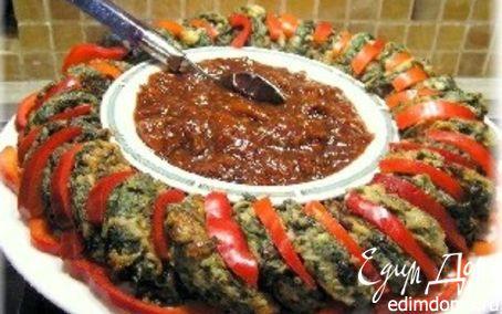 Рецепт Котлетки из шпината с томатным соусом