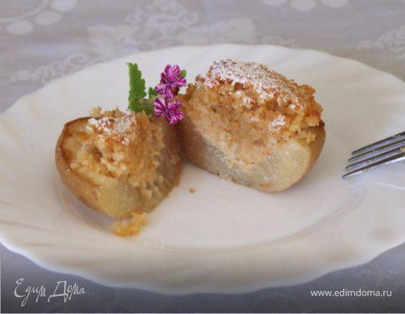 Персики, наполненные миндалем
