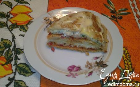 Рецепт Блинный пирог А-ля пицца