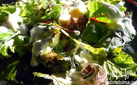 Рецепт Салат с финиками, грецкими орехами и сыром