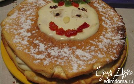 Рецепт Йогуртовый торт с ананасами